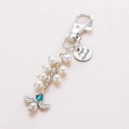 Angel Bag Charm with Engraving on Disc